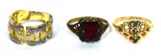 Three Vintage Rings