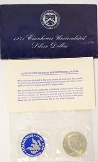 Uncirculated 40% Silver Eisenhower Dollar Coin