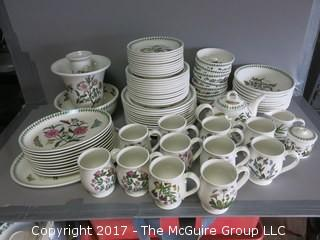 Botanical motif dinnerware - 88 pieces