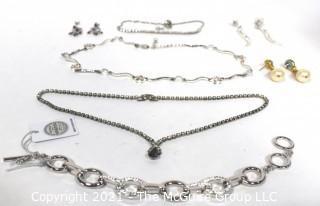 Group of Vintage Rhinestone Costume Jewelry Including Swarovski Bracelet New with Tag.