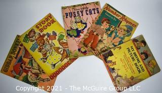 Five (5) Vintage Soft Cover Children's Books.
