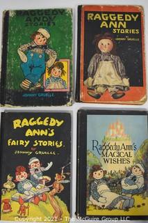 Four (4) Vintage Editions of Raggedy Ann Stories by Johnny Gruelle