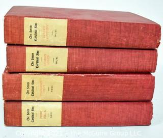 Four (4) Volumes of The Seven Cardinal Sins, by Eugène Sue, 1899