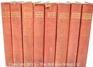 Vintage 8 Volume Set of Statesman Edition Theodore Roosevelt, 1897 G.P. Putnam Sons of NY & London