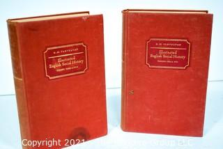 Two (2) Volumes of the 1952 of Illustrated English Social History, Volumes 1-4 in 2 Bindings By Trevelyan, G. M