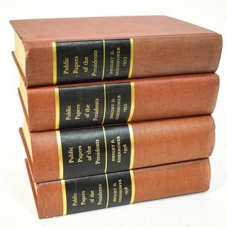 Four (4) Volume Set of Public Papers of the Presidents of the United States, Dwight D. Eisenhower, 1953