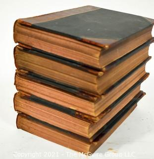 Five (5) Volumes of Cassell's Illustrated History of England, Published by Cassell, Petter, and Galpin, London, England,  1862