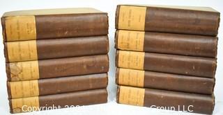 Ten (10) Volume Set of The Works Of Henry Fielding Esq by Leslie Stephen  1882.