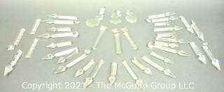 Collection of Faceted Cut Crystal Chandelier Prisms