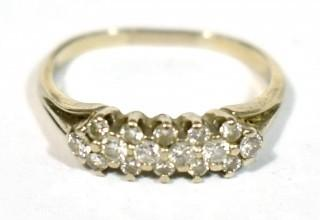 18kt White Gold with Diamonds Ring; 4g total weight