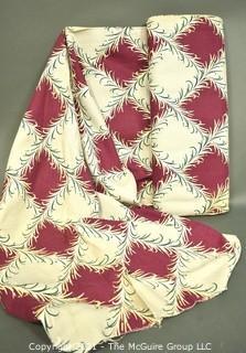 Full Bolt Of Vintage  Mid Century Art Deco Designed Barkcloth Fabric