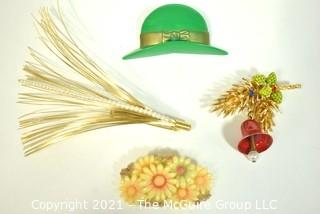 Four (4) Brooches or Pins