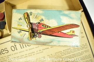 Antitque 1928 A Flight Around The World Board Game By J W Spears England