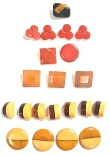 Group of Vintage Bakelite Buttons.
