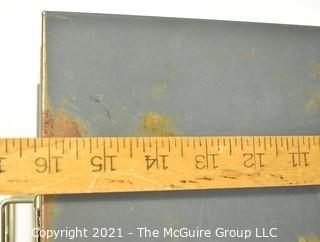 """Vintage Industrial Five Drawer Steel Metal File Cabinet. 16"""" x 10"""" x 12""""."""
