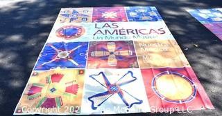 "Large Vinyl Banner From Las Américas: Un Mundo Musical | Smithsonian Folklife Festival.   Measures 92"" x 121"""