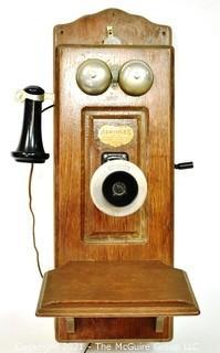Swedish Antique Hercules Hand Crank Wall Telephone. {Note: Description Altered 10.14.2021 @ 6:46pm ET}