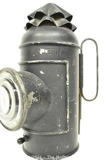 Antique Black Nautical Signal Kerosene Lantern {Note: Description Altered 10.14.2021 @ 6:46pm ET}