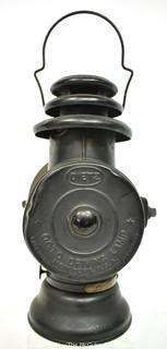 Antique Dietz Union Kerosene Carriage/Automotive Lantern with Fresnel Lens, New York, USA {Note: Description Altered 10.14.2021 @ 6:46pm ET}