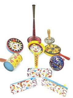 Group of Vintage Tin Party Noisemakers.