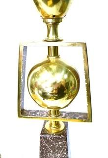 Vintage Mid Century Modern Table Lamp Made by Rembrandt Masterpieces Lamp Company with Shade.