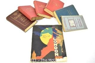 Collection of Vintage Travel Books.