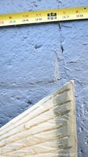 "Vintage Double Sided Wood Carved Primitive Folk Art.  Painted Fish Bait Hanging Trade Sign.  Measures 37"" long. {Note: Description Altered 10.14.2021 @ 6:46pm ET}"