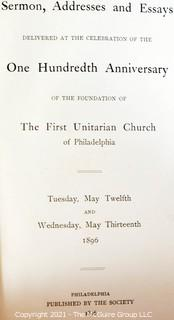 """Book Titles: """"The Great Fight for Free Silver"""", """"Laugh and Live"""" and """"Addresses published by the Unitarian Church of Philadelphia"""""""