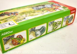 Vintage 1:25 Kovap Agro Tin Litho Set No. 7  Wind Up Tractor Toy With Equipment  NIB New in Box. {Note: Description Altered 10.14.2021 @ 6:46pm ET}