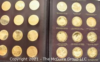 1970 The Thompson Medallic Bible Franklin Mint Complete with Bronze Medals Set