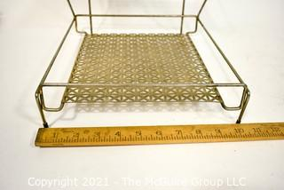 """Vintage Mid Century Wire Mesh Johnson and Johnson Dental Floss Store Display.  Measures 10 x 10"""" x 10""""."""