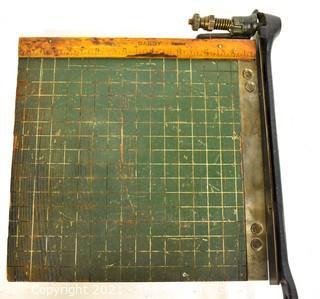 Small/Miniature Milton Bradley Dandy Paper Cutter Guillotine Style, circa 1914 {Note: Description Altered 10.14.2021 @ 6:46pm ET}