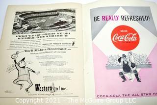 1962 Vintage New York Yankees - San Francisco Giants World Series Program. Baseball Sports
