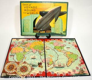 1926 Milton Bradley Voyage Round The World Board Game