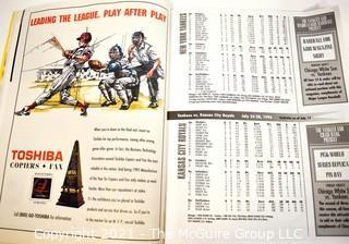 New York Yankees 1996 Scorebook & Souvenir Program Magazine 68 pages Derek Jeter Baseball