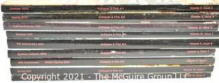 """New Old Stock (NOS) (9) Volumes of """"Antiques and Fine Art"""" Magazine; circa 2010-2011 {Note: Description Altered 10.14.2021 @ 6:46pm ET}"""