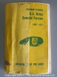 """Collection of ephemera including """"U.S. Special Forces; Vietnam, 1961-1971"""