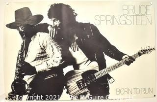 """Unframed Large Bruce Springsteen & Clarence Clemons Born to Run 1975 Poster.  Measures 23"""" x 34""""."""