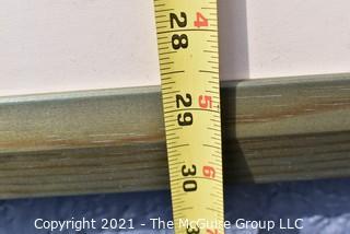 """Framed Under Glass Original Pastel of Pumpkins, Unsigned. Measures 30"""" x 42""""."""