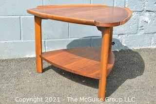 """Vintage Mid Century Lane Guitar Pick Coffee Table.  Measures 28"""" across and 19"""" tall."""
