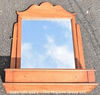 Vintage Vanity Shaving Mirror with Drawer