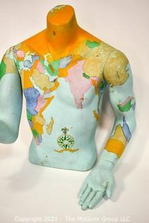 Artisan Painted Mannequin Torso.