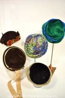 Five (5) Vintage Ladies Hats