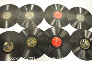 Collection of 78 and 45 Vinyl Records including Elvis