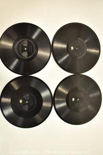 Four (4) Antique Edison Diamond Disc Phonograph Records