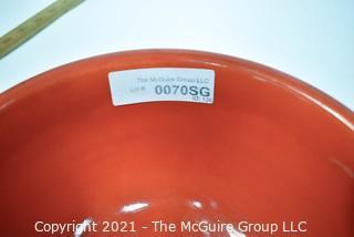 Vintage Orange Pottery Mixing Bowl.