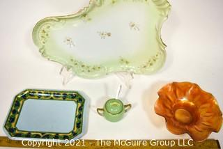 Group of Glass and Porcelain Items.