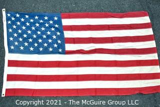 """Vintage Printed Cotton Reliance Annin & Co. 50 Star American Flag .  Measures 32"""" X 58""""."""