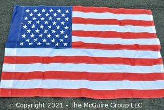 """Nylon Stitched with Embroidered 50 Star American Flag. Measures 28"""" X 43""""."""