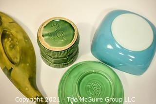 Four (4) Pieces of Vintage Ceramics Including McCoy, Fiesta and Pyrex